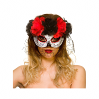 Day of The Dead Eye Mask & Veil (MK9995)